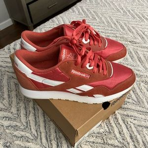 Reebok classic nylon red sneakers 10.5